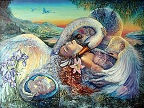 """Giclee """"leda And The Swan"""" After Josephine Wall"""