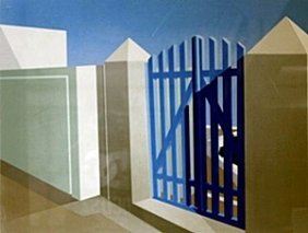 "Serigraph ""blue Gate"" After Elena Borstein"