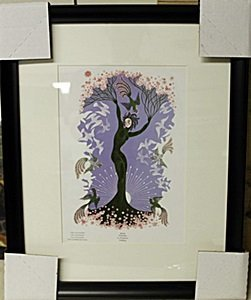 "Framed Lithograph ""the Seasons"" By Erte"