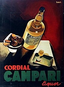 """Giclee """"cordial, Campair, Liquor"""" After Nizzali"""