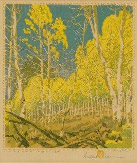 GUSTAVE BAUMANN, Aspen Thicket, 15/125, 1943
