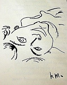 "Lithograph ""tete Renversee"" After Henri Matisse"