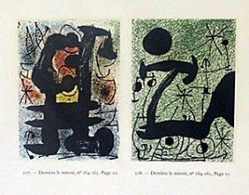 "Print ""derriere Le Miroir"" By Joan Miro"