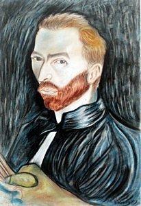 Self-portrait 81' - Pastel On Paper - Vincent Van Gogh
