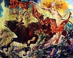 Original Acrylic On Canvas By I. Semeka