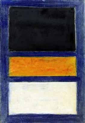 Blue, Black, And Yellow 1950' - Mark Rothko