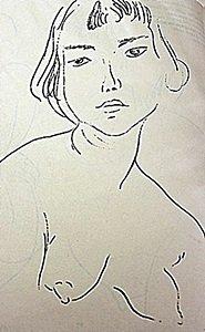 "Lithograph ""tete Penchee Vers La Gauche"" After Henri"