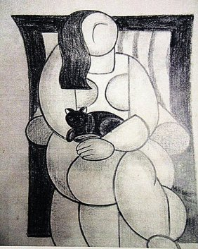 Fernand Leger - Woman With A Cat