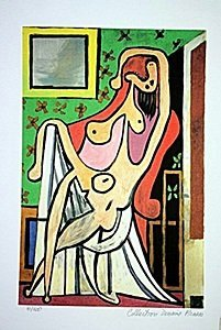 Picasso Limited Edition - Nude In An Armchair - From