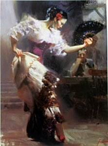 "Giclee On Paper ""the Dancer"" After Pino"