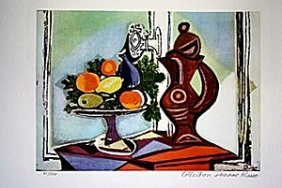 Picasso Limited Edition - Compote Dish And Pitcher By