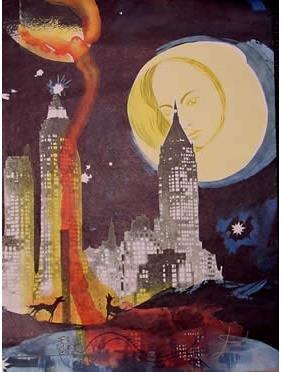 Dali Lithograph Manhattan Surrealism