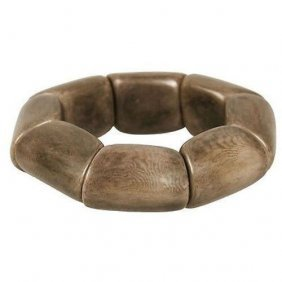 Riverbed Tagua Nut Bracelet In Chocolate - Faire Collec