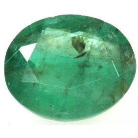 Genuine 3.62 Ctw Emerald Oval Cut