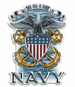 """4"""" Us Navy Decal"""