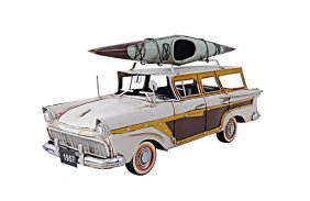 Hand Made Fords Woody-look Country Squire W/kayak