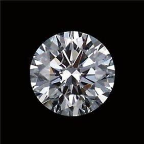 Gia Cert 0.39 Ctw Round Diamond I/vvs1