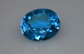 Genuine 5.18 Ctw Blue Topaz Oval 10x12