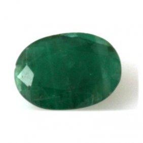 Genuine 2.96 Ctw Emerald Oval Cut
