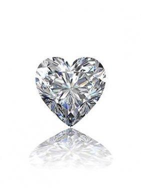 Gia Cert 0.52 Ctw Heart Diamond L/vvs1