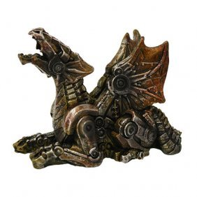 Hand Painted Resin Steampunk Dragon