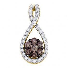 10kt Yellow Gold 0.39ctw Cognac Diamond Ladies Fashion