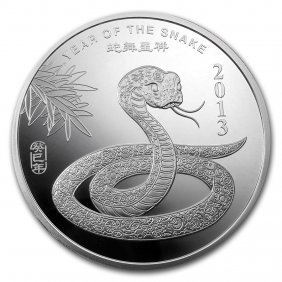 10 Oz Silver Round - (2013 Year Of The Snake)