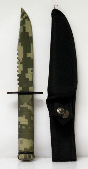 Small Urban Military Style Camoulflage Hunting Knife