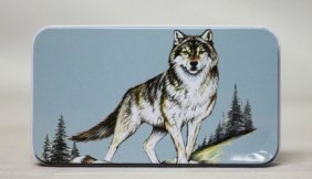 Lone Wolf Folding Knife W/ Tin Case