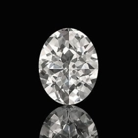 Egl Cert 1.01 Ctw Oval Diamond H/si1
