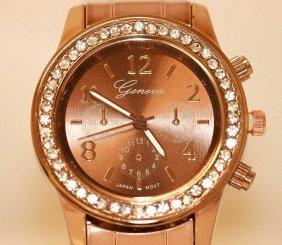 Womens Wrist Watch With Cz