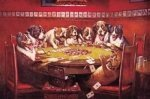 8 Dogs Poker Metal Sign