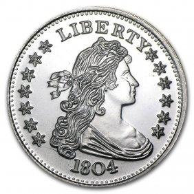 1 Oz Silver Round - 1804 Silver Dollar