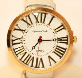 Montres Carlo Womens White Wrist Watch