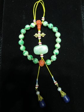 Chinese Buddhist Jadeite Prayer Beads