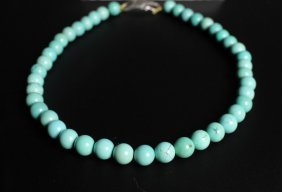 A Turquoise Beaded Necklace