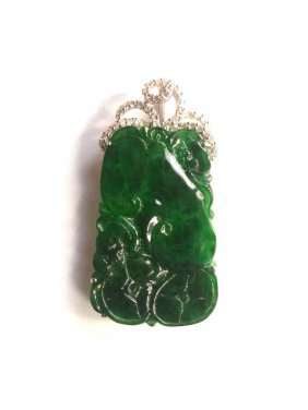 A Natural Grade A Chinese Jadeite Jade Pendant