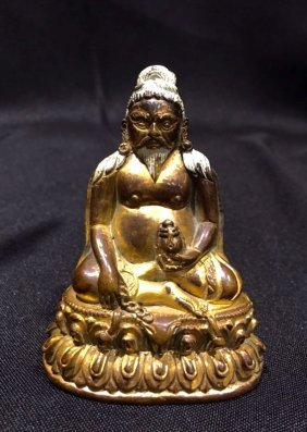 "Chinese Gilt Bronze Figure Of ""shangshi"""