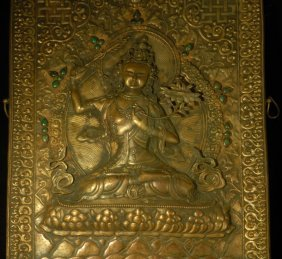 Chinese Gilt Bronze Figure 18/19th C.