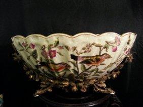 Chinese Famille Rose Enameled Porcelain Brushpot
