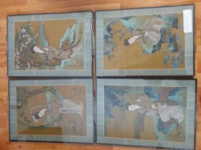 Antique Chinese Hand Painted