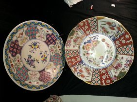 2 Big Antique Porcelain Plate