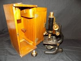 BAUSCH AND LOMB OPTICAL MICROSCOPE PAT. 1915 ROCHESTER