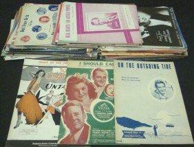 1940's Celebrity/Entertainer Shet Music Lot