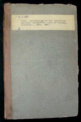 1881 Proceedings Of The 1880 Republican Natl Conve