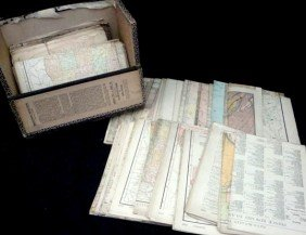 Lot Of Early 20th C. Mostly Railway Maps