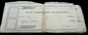 1868 First National Bank Checks