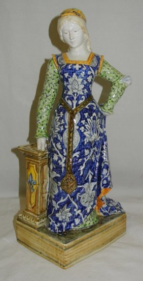 Tall Handpainted Porcelain Figurine