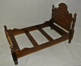 Victorian Walnut Salesman Sample Bed