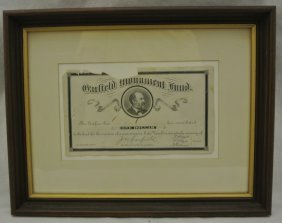 James A. Garfield Monument Fund Receipt